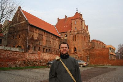 Rester av de tyska korsfararnas borg – Toruńs grundare.